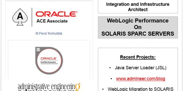 WebLogic Performance on SOLARIS SPARC Servers