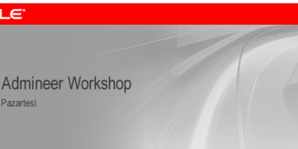 Oracle & ADMINEER Workshop (SPARC, WebLogic, Multitenancy and WLSDM)