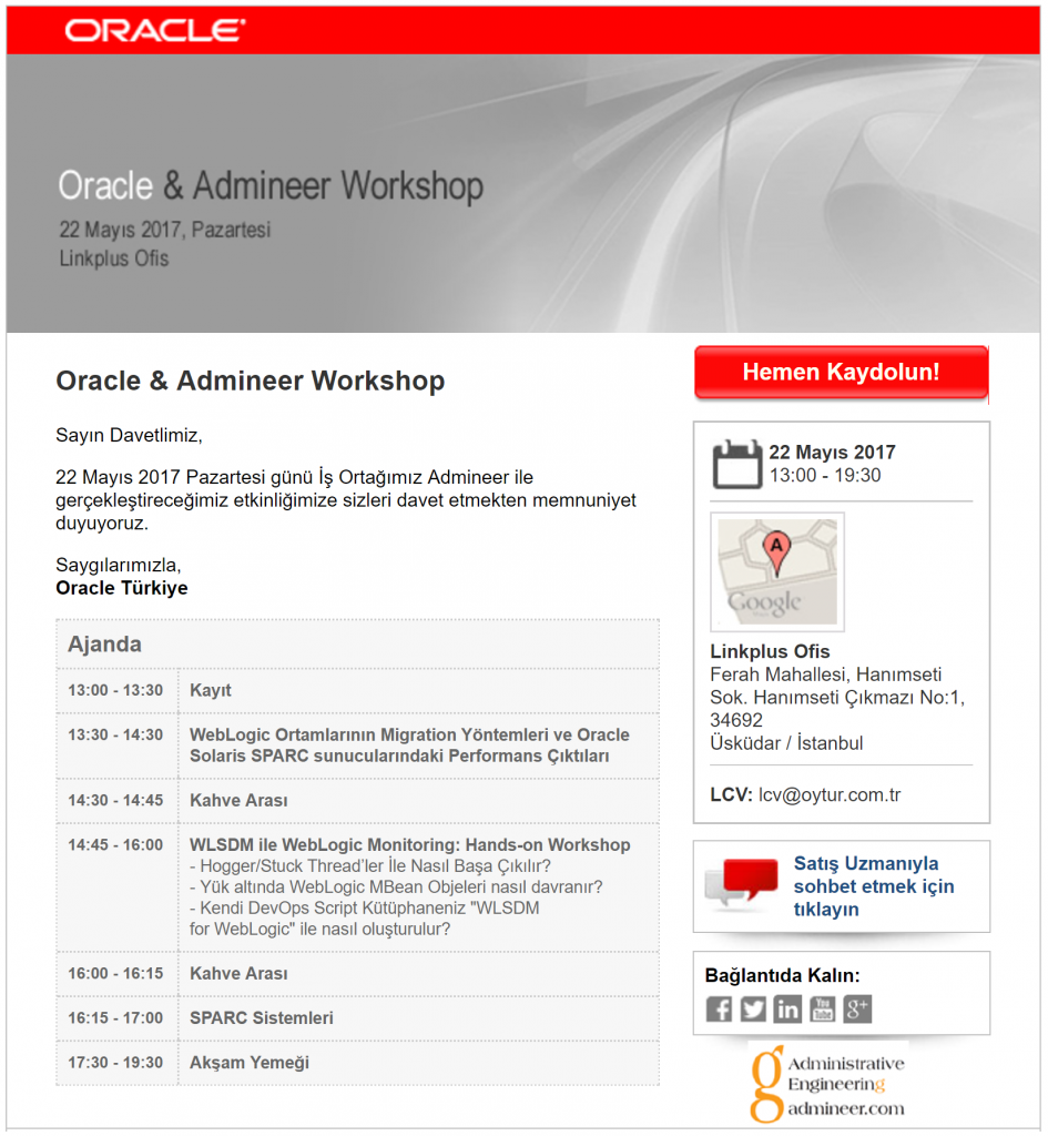 Oracle & ADMINEER Workshop