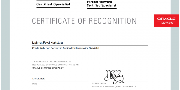 Mission Completed: Oracle WebLogic Server 12c Certified Implementation Specialist