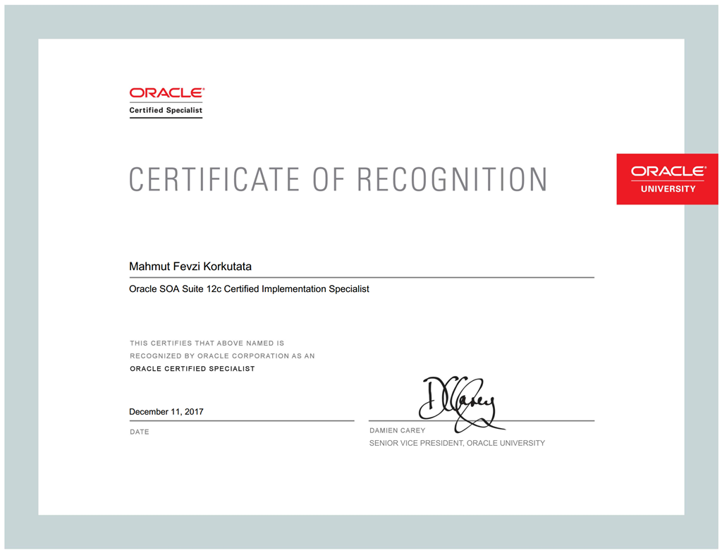 Mission completed volume ii oracle soa suite 12c certified mfevzi korkutata as oracle certified specialist and oracle partnernetwork certified specialist 1betcityfo Image collections