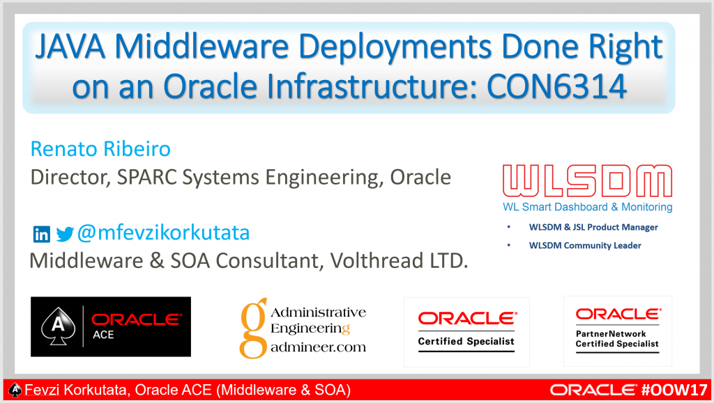 Presentation Cover - Oracle Open World 2017